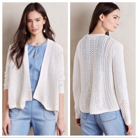 Anthropologie Sweaters - Anthropologie off white open cardigan